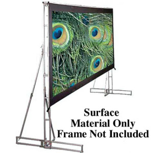 Draper 10' x 17' Cinefold Cineflex Rear Surface Only - HDTV Format (Surface Material Only, Frame Not Included)