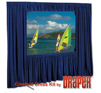 Draper Optional Skirt Bar for Cinefold 6'x 6' Square Format