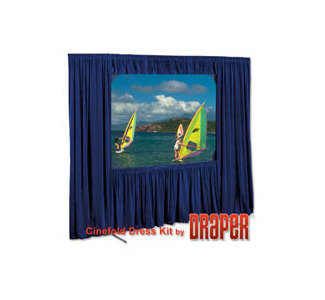 "Draper Optional Skirt Bar for Cinefold 83""x144"" HDTV Format"