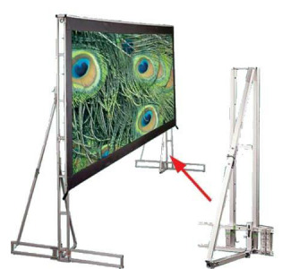 Draper Truss-Style 11'6 x 15' - Cinefold Cineflex Rear Projection - NTSC Format