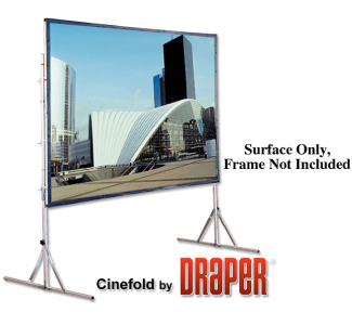 Draper 7'x 9' Cinefold Cineflex Rear Projection - NTSC Format - Surface Only, Frame Not Included