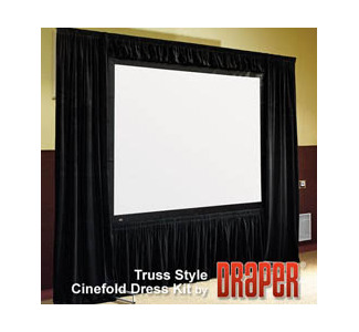 "Draper Optional Skirt Bar for Truss Cinefold 12'3""x 21'- HDTV Format"