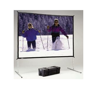 Da-Lite 9'X12' Dual-Vision Fast-Fold Deluxe screen with Heavy Duty legs