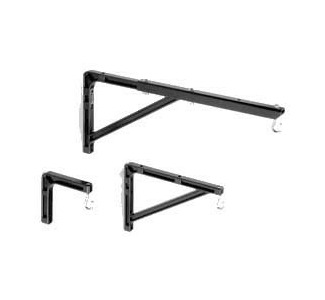 "Da-Lite  No. 6 Wall Brackets - Black - 6"" Extension"