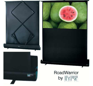 "Draper 73"" Road Warrior High Contrast Grey  HDTV Format Portable Screen"
