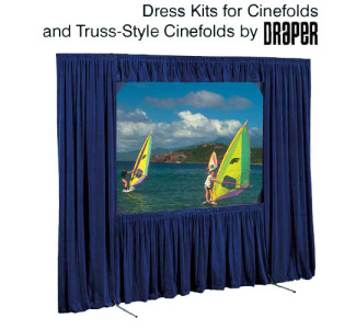 Draper Truss Cinefold 11' x 19' HDTV Format Complete Dress Kit