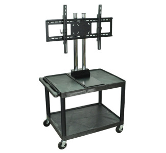 "Wilson WPTV28E - 28"" Mobile Flat TV Stand - Tuffy Cart with Universal LCD/Plasma Mount"
