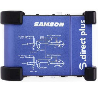 Samson S-direct plus - Active Stereo Direct Box with Ground Lift Switch