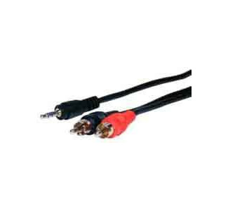 Comprehensive ST Series 3.5mm Stereo Mini Plug to 2 RCA Plugs Audio Cable 10f