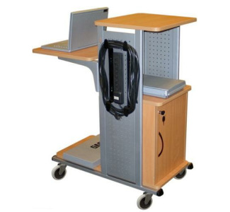 Wilson WPS4BRCE Presentation Station with Locking Cabinet (Nickel & Aspen Finish)