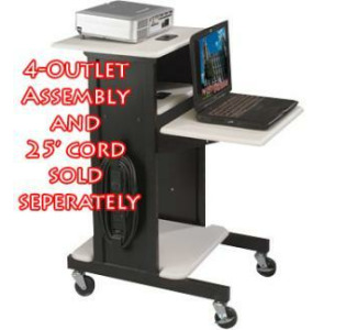 Balt 89759 Presentation Cart (Gray/Black)