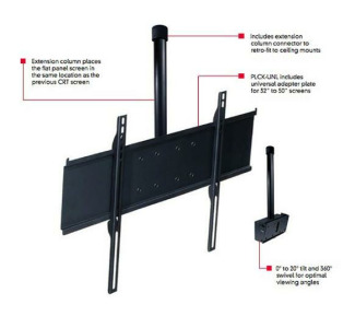 Peerless Universal Flat Panel Conversion Kit for Jumbo TV Mounts 32