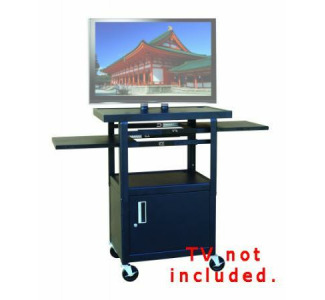 "Buhl PLCAB4226E Flat Panel TV Cart with Locking Cabinet - Adjustable 26""-42"""