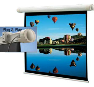 "Draper Salara Plug & Play Front Projection Screen - 84"" x 84"" AV Format (1:1 Aspect Ratio) (Matte White)"
