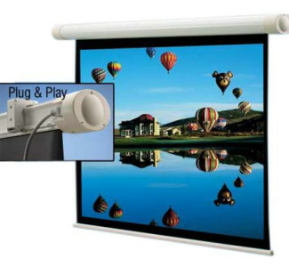 "Draper Salara Plug & Play Front Projection Screen- 45"" x 80"" HD Format (16:9) (Matte White)"