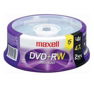 Maxell DVD+RW 15 pack Rewritable Disc Spindle