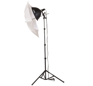 Smith Victor KT400 1-Light 500-Watt Thrifty Add-On Kit with Umbrella