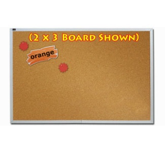 Quartet ECKA408 4' x 8' Natural Cork Bulletin Board with Aluminum Frame