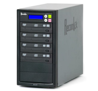 Recordex TechDisc Pro DVD300 DVD/CD 1 to 3 Duplicator Tower (20x/48x)