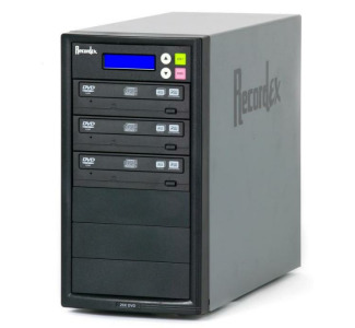 Recordex TechDisc Pro DVD300H DVD/CD 1 to 3 Duplicator Tower (20x/48x) with 250GB Hard Drive