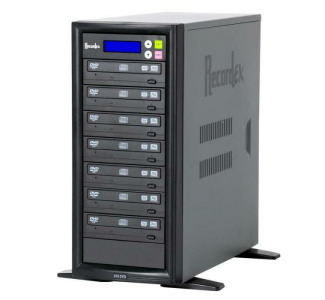 Recordex TechDisc Pro DVD700H DVD/CD 1 to 7 Duplicator Tower (20x/48x) with 250GB Hard Drive