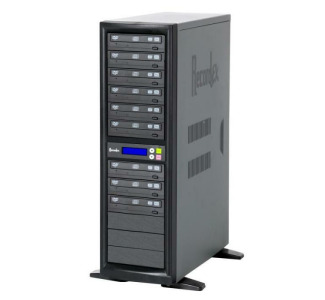 Recordex TechDisc Pro DVD900H DVD/CD 1 to 9 Duplicator Tower (20x/48x) with 250GB Hard Drive