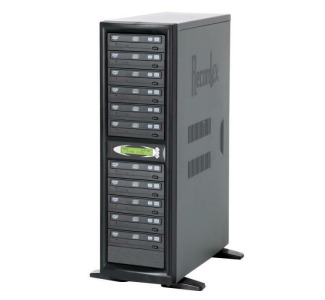 Recordex TechDisc Pro DVD1100H DVD/CD 1 to 11 Duplicator Tower (20x/48x) with 250GB Hard Drive