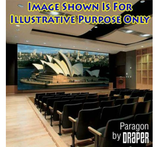 "Draper 114209 Paragon 270"" Motor-in-Roller Projection Screen-HDTV Format (16:9)-Matte White"