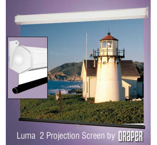 Draper Luma 2 Wall Screen 9'x 9' Matte White