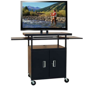 "Buhl PLCAB5434E Wide Body Flat Panel AV Cart with Locking Cabinet (Adjustable 34"" to 54"")"