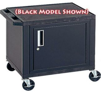 "H. Wilson WT26CE 26"" Tuffy Cabinet Cart with  Electric Outlets & Black Legs (Specify Color)"