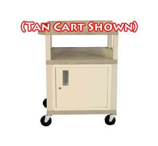 "H. Wilson WT34CE-B 34"" Tuffy Cabinet Cart with  Electric Outlets & Black Legs (Specify Color)"