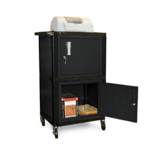 "Wilson WT50 50"" Tuffy Cart with 2 Cabinets (Black)"