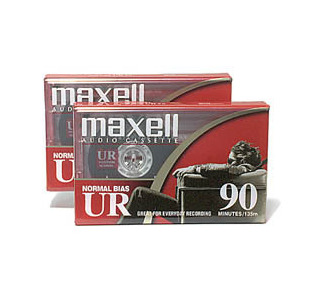 Maxell 90 Minute Normal Bias Audio Cassette Tape (2 Pack)