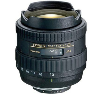 Tokina AT-X 107 DX Fish-Eye AF-10-17mm Zoom Lens for Nikon-D (f/3.5-4.5)