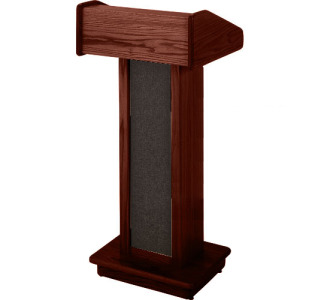 Sound-Craft Systems Floor Lectern II with Reading Light & Casters (Dark Mahogany)