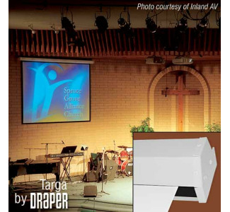 Draper Targa 9' x 9' Motor-In-Roller Electric Screen AV Format (1:1 Aspect Ratio) (Matte White)