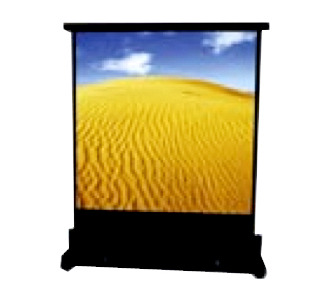 "Dukane DUKV48X36: 48"" x 36"" Floor Pull-Up Screen with Nylon Carrying Bag (Matte White)"