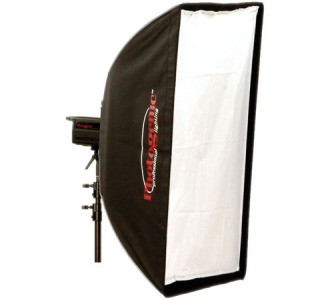SB48x72 soft box with front and internal diffusion, speed ring, rods and case