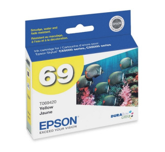 Epson Yellow Ink Cartridge For Stylus Cx5000 and Cx6000 Printers