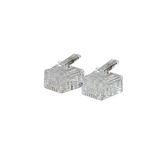 Cables To Go RJ11 Modular Plug for Round Solid Cable