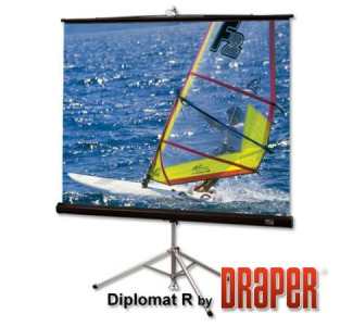 Draper Diplomat/R 215015 Portable Projection Screen