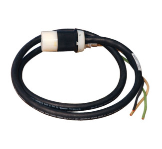 120V Single Phase Whip Extension cable in 3 ft. length with L5-20R output and L5-20P input