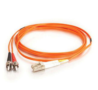 Cables To Go Fiber Optic Duplex Cable - ST Network - LC Network -  29.53ft - Orange