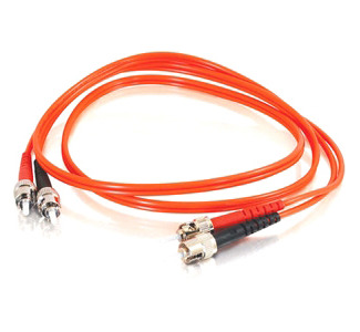 Cables To Go Fiber Optic Duplex Cable - ST Network - ST Network - 19.69ft - Orange