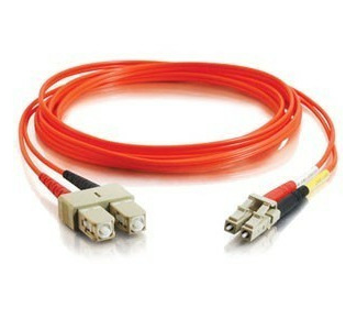Cables To Go Fiber Optic Duplex Multimode Patch Cable with Clips - LC Male - SC Male - 13.12ft