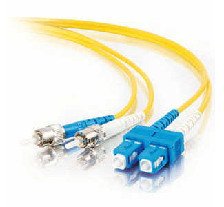 Cables To Go Fiber Optic Duplex Cable - SC Network - ST Network - 22.97ft