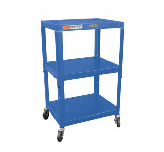 "Wilson Adjustable Metal Cart 26 - 42"" with Electric-Blue"