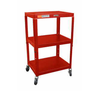 "Wilson Adjustable Metal Cart 26 - 42"" with Electric-Red"