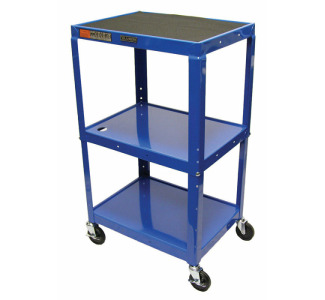 "Luxor Adjustable Compact Steel Computer Workstation 26-42"" with Electric-Royal Blue"